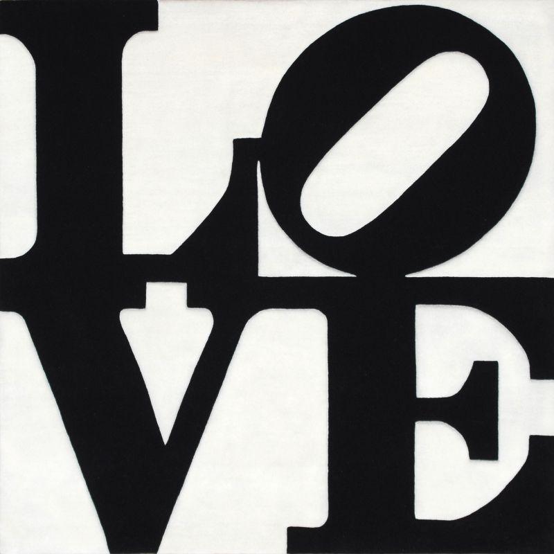 art platform black on white love by robert indiana. Black Bedroom Furniture Sets. Home Design Ideas